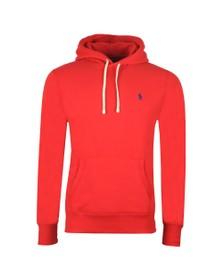 Polo Ralph Lauren Mens Red Overhead Fleece Hoody