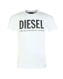 Diesel Mens White Diego Logo T Shirt
