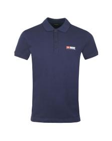 Diesel Mens Blue Weet Polo Shirt