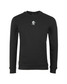 Gym King Mens Black Basis Crew Sweat