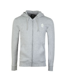Gym King Mens Grey Basis Full Zip Sweat