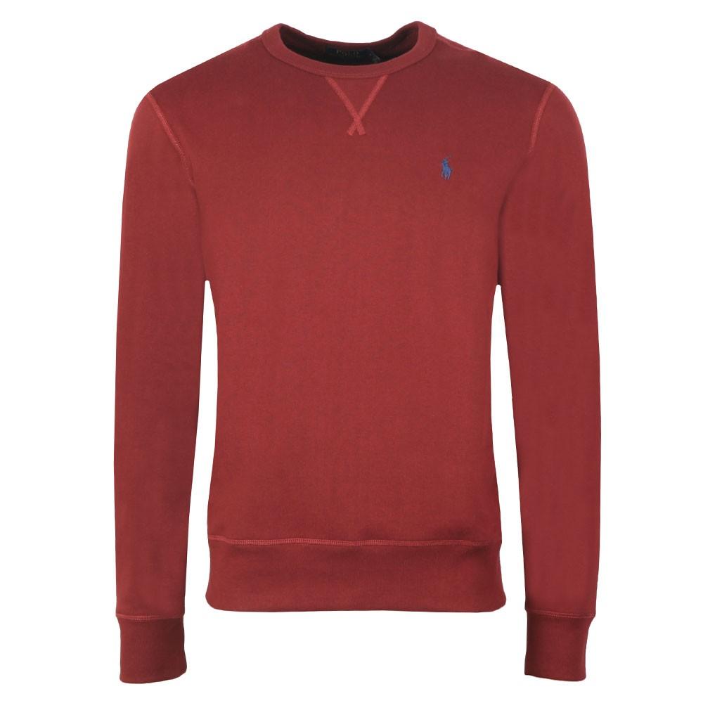Sweatshirt Fleece Mens Neck Crew Red NknOXwP80Z