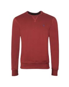 Polo Ralph Lauren Mens Red Fleece Crew Neck Sweatshirt