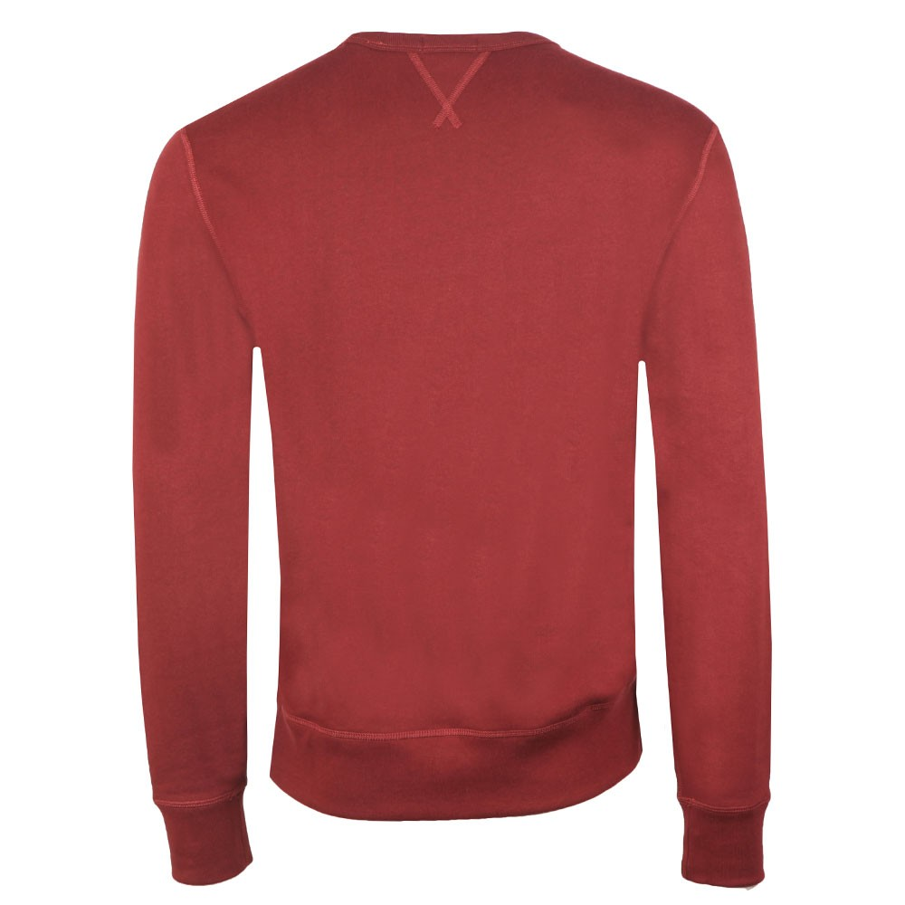 Fleece Mens Red Crew Sweatshirt Neck FKJ5u3Tlc1