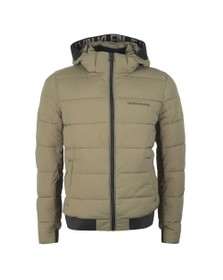 Calvin Klein Jeans Mens Green Padded Stretch Puffer