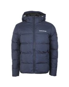 Calvin Klein Jeans Mens Blue Hooded Down Jacket