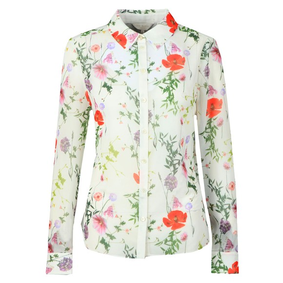 Ted Baker Womens Off-White Shivany Hedgerow Printed GGT Shirt main image