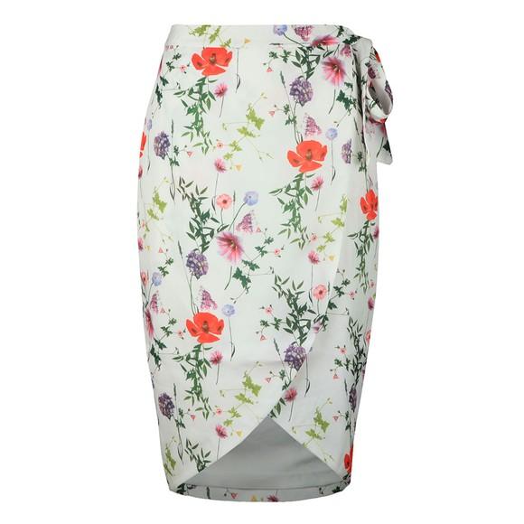 Ted Baker Womens White Camiila Hedgerow Wrap Midi Skirt