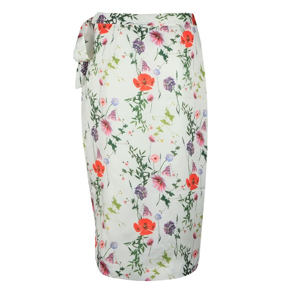 Ted Baker Womens White Camiila Hedgerow Wrap Midi Skirt main image