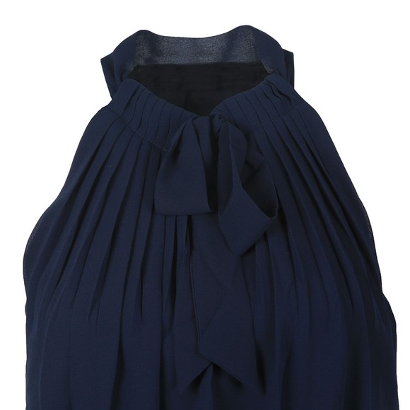 Ted Baker Womens Blue Shimma Halterneck Pleated Dress