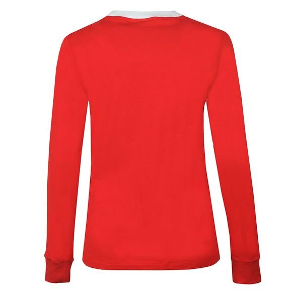 adidas Originals Womens Red 3 Stripes Long Sleeve T-Shirt main image