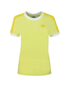 adidas Originals Womens Yellow 3 Stripes T-Shirt