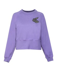Vivienne Westwood Anglomania Womens Purple Badge Sweatshirt