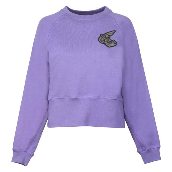 Vivienne Westwood Anglomania Womens Purple Badge Sweatshirt