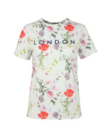 Ted Baker Womens White Eyvan Hedgerow Logo Tee