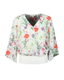 Ted Baker Womens White Myyah Hedgerow Kimono Top