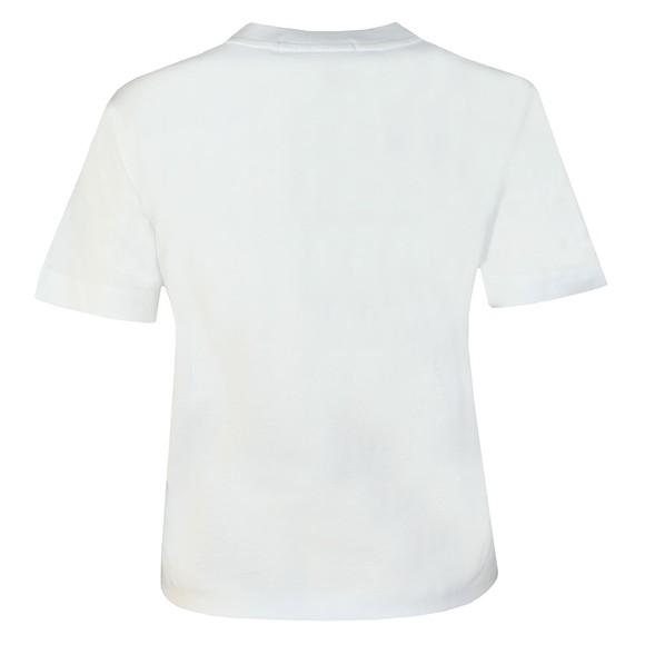 Calvin Klein Jeans Womens White Shiny Calvin T Shirt main image