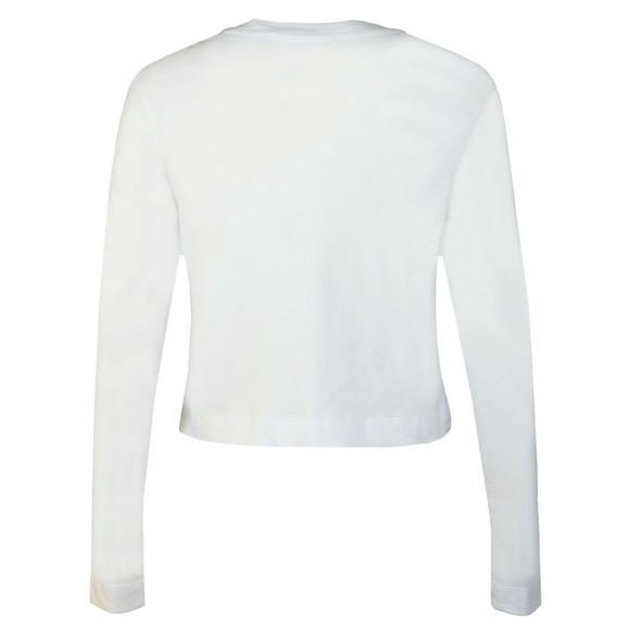 Calvin Klein Jeans Womens White Institutional Logo Long Sleeve T Shirt main image