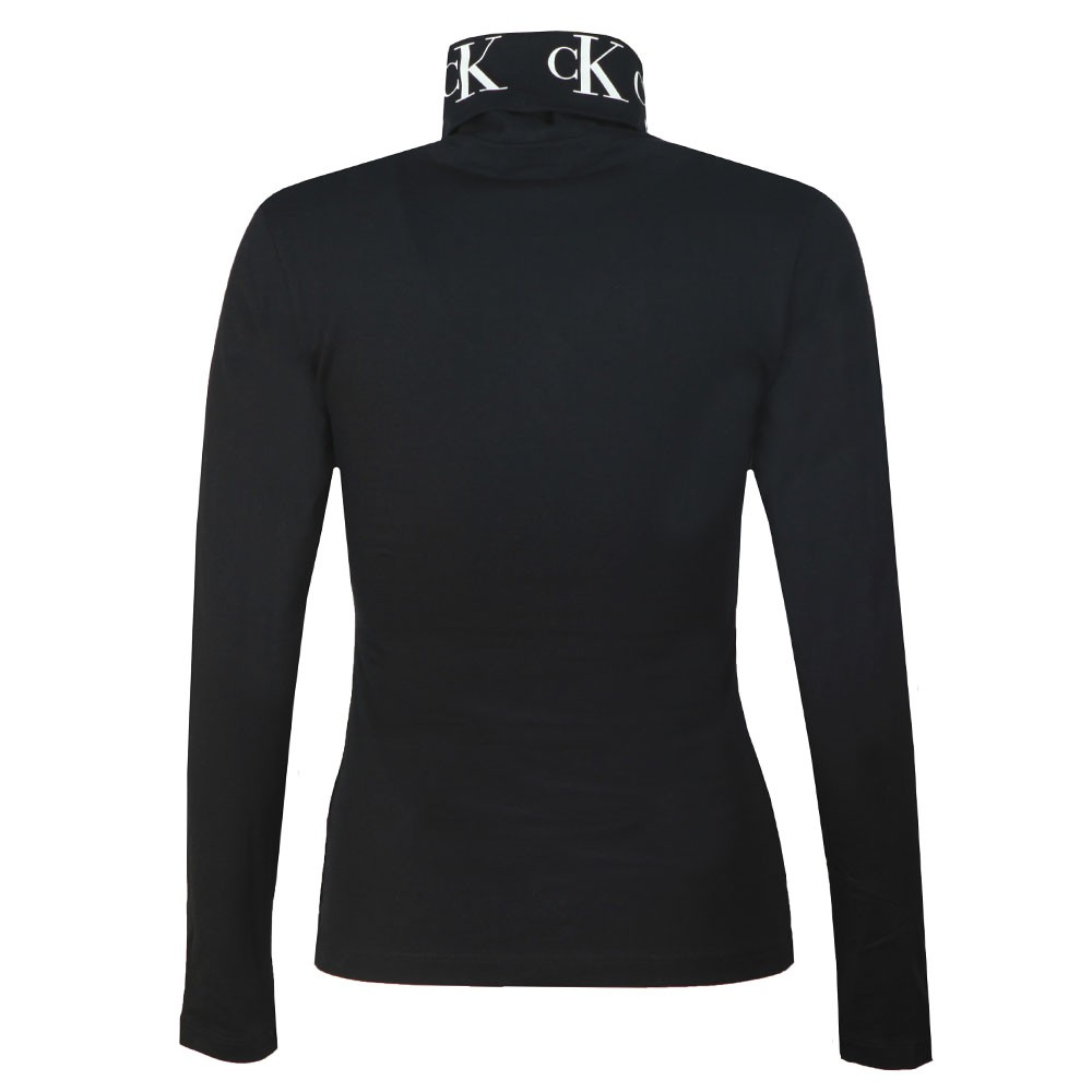 Monogram Tape Roll Neck Top main image