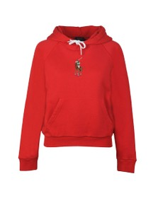 Polo Ralph Lauren Womens Multicoloured Embroidered Logo Overhead Hoody