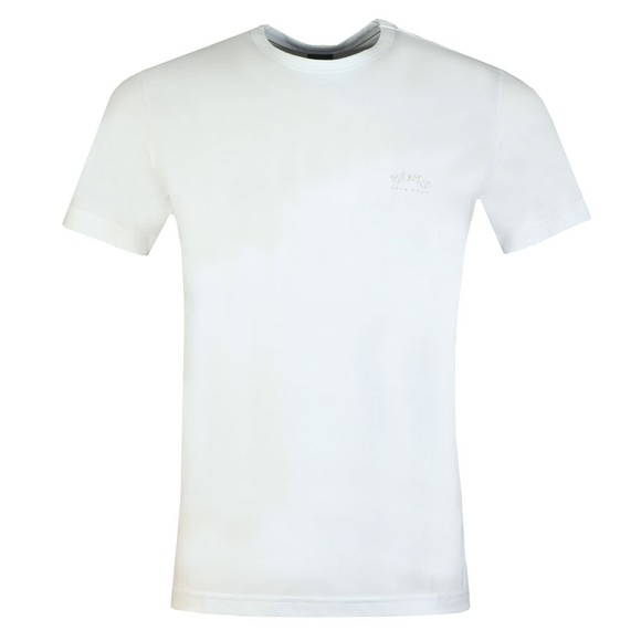 BOSS Mens White Athleisure Curved T-Shirt main image