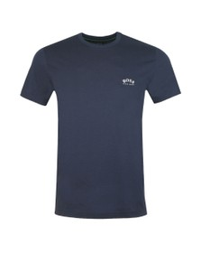 BOSS Mens Blue Athleisure Curved Tee