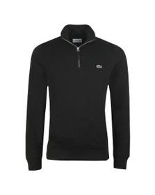 Lacoste Mens Black SH8891 1/2 Zip Sweatshirt