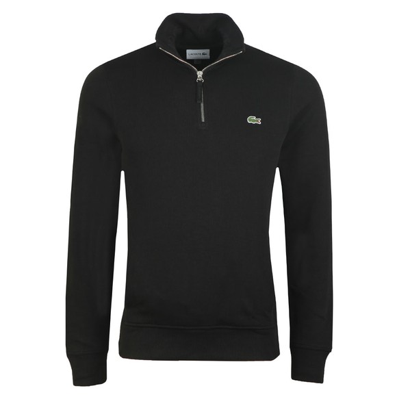 Lacoste Mens Black SH8891 1/2 Zip Sweatshirt main image