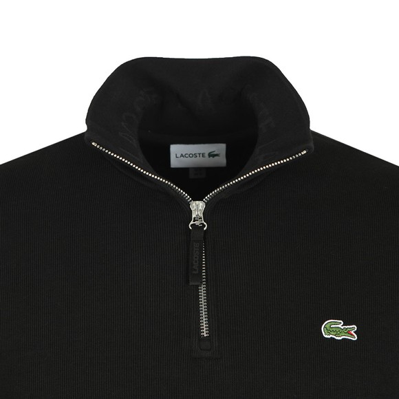 Lacoste Mens Black SH8891 1/2 Zip Sweat main image