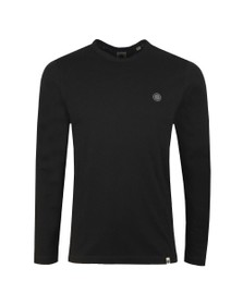 Pretty Green Mens Black L/S Tee