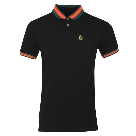 Luke Sport Mens Black Shooting Star Polo main image