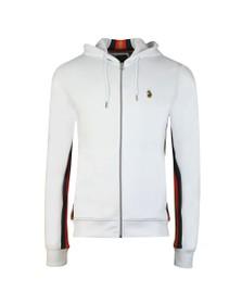 Luke Sport Mens White Jaguar Full Zip Sweat