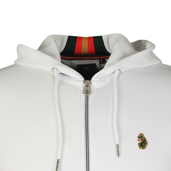 Luke Sport Mens White Jaguar Full Zip Sweat main image