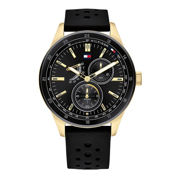 Tommy Hilfiger Mens Black 1791636 Watch main image