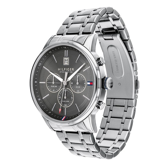Tommy Hilfiger Mens Silver 1791632 Watch main image