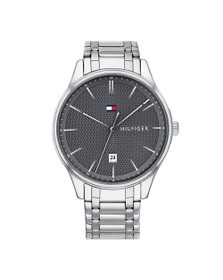 Tommy Hilfiger Mens Silver Damon Watch