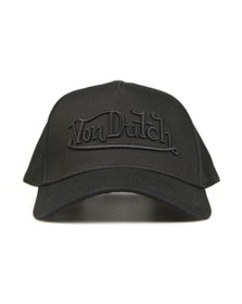 Von Dutch Mens Black New Solid Embroidered Cap