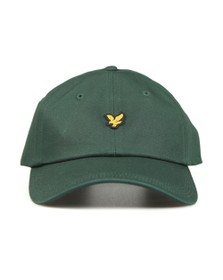 Lyle and Scott Mens Green Cotton Twill Baseball Cap