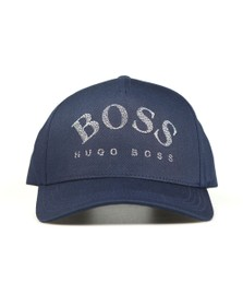 BOSS Mens Blue Athleisure Curved Logo Cap