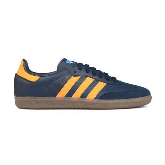 adidas Originals Mens Blue Samba Leather Trainer main image
