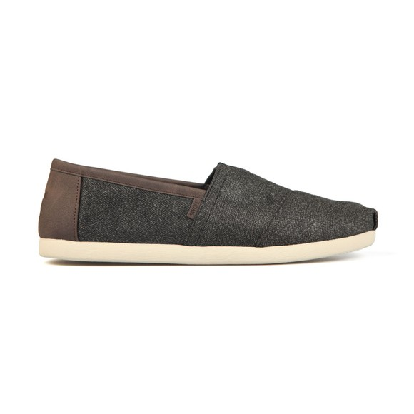Toms Mens Grey Herringbone Trim Espadrille