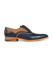 Barker Mens Navy Calf/Snuff Suede McClean Shoe