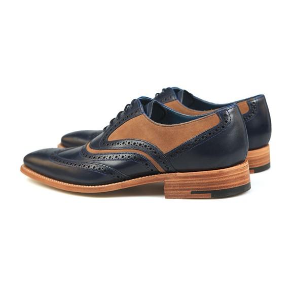 Barker Mens Navy Calf/Snuff Suede McClean Shoe main image