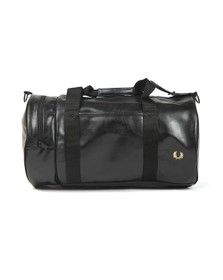 Fred Perry Mens Black Tonal Barrel Bag