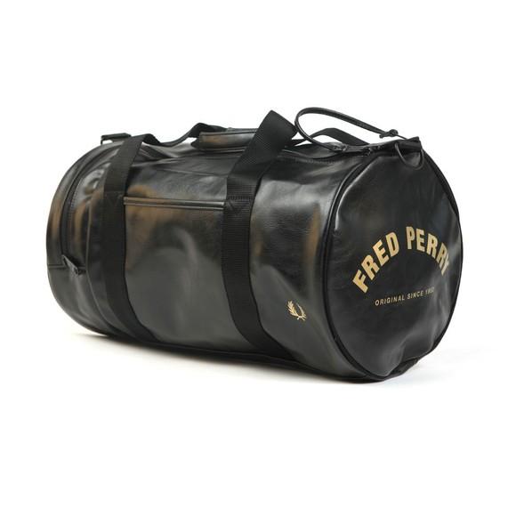Fred Perry Mens Black Tonal Barrel Bag main image