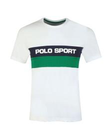 Polo Ralph Lauren Sport Mens White Stripe Logo T Shirt