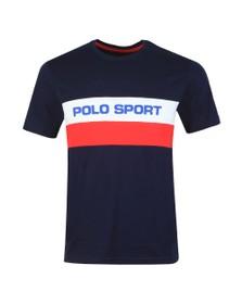 Polo Ralph Lauren Sport Mens Blue Stripe Logo T Shirt