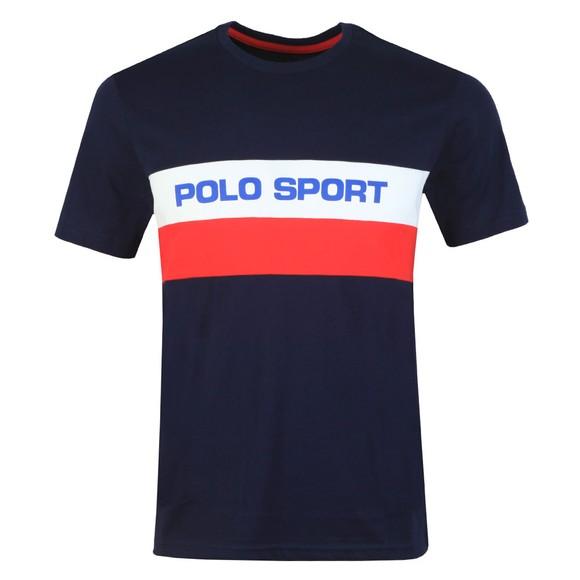 Polo Sport Ralph Lauren Mens Blue Stripe Logo T Shirt