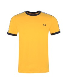 Fred Perry Sportswear Mens Yellow Taped Ringer T-Shirt