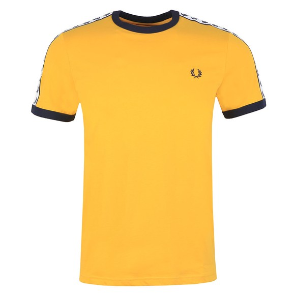 Fred Perry Sportswear Mens Yellow Taped Ringer T-Shirt main image
